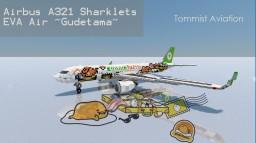 "Airbus A321 Sharklets - EVA Air ""Gudetama"" [+Download] Minecraft Project"