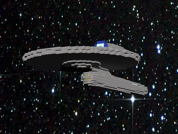 Mini USS Kelvin (1:6) + [Schematic] Minecraft Project