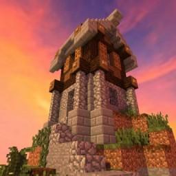 Mini House on Hill (10 diamonds?) Minecraft Map & Project