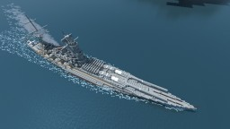 Fictional Japanese Battleship-Monitor - Two 1600mm Naval Guns Minecraft Map & Project