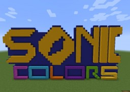 [Snapshot 17w06a] Sonic Colors Logo in Minecraft. Minecraft Map & Project