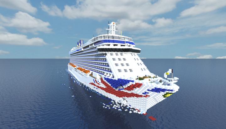 PO Britannia Cruise Ship PO Cruises Minecraft Project - Britannia cruise ship
