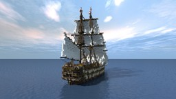 5th Rate Ship Cinematic Showcase Minecraft Project
