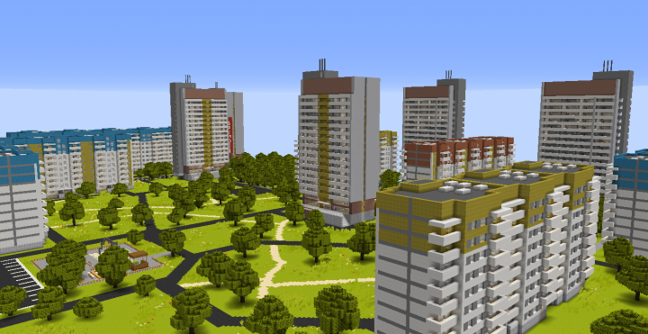 Minecraft City Map With Interior - Omong h