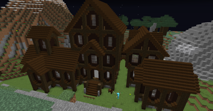 Minecraft Oak Wood ~ Dark oak wood mansion minecraft project
