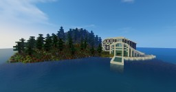 Modern house in island Minecraft Project