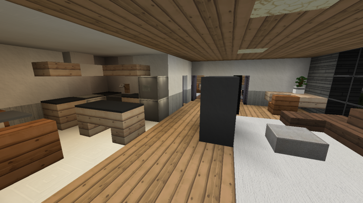 modern apartment building 3 full interior minecraft project