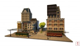 the street on which trams run Minecraft Map & Project