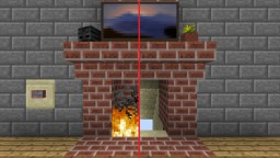 Secret Compact Automatic Fireplace with Entrance Minecraft Map & Project