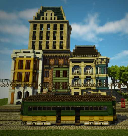 Minecraft Street: The Street On Which Trams Run Minecraft Project