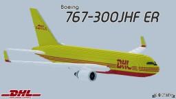 Boeing 767-300JHF ER - DHL Cargo Minecraft Map & Project