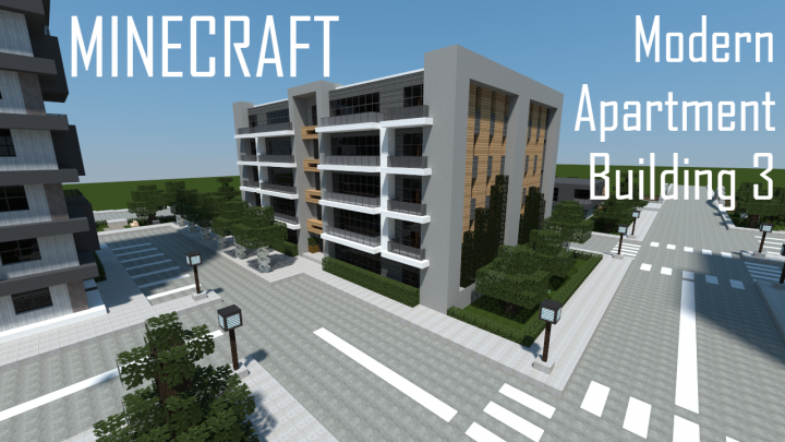 Modern Apartment Building 3 (full interior) Minecraft Map