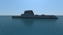 USS Zumwalt  1.3:1 scale Minecraft Project
