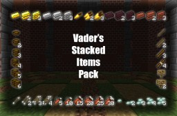 [16x16] Vader's Stacked Items Pack - Stack your items with Optifine! Minecraft