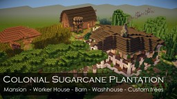 Colonial sugarcane plantation Minecraft