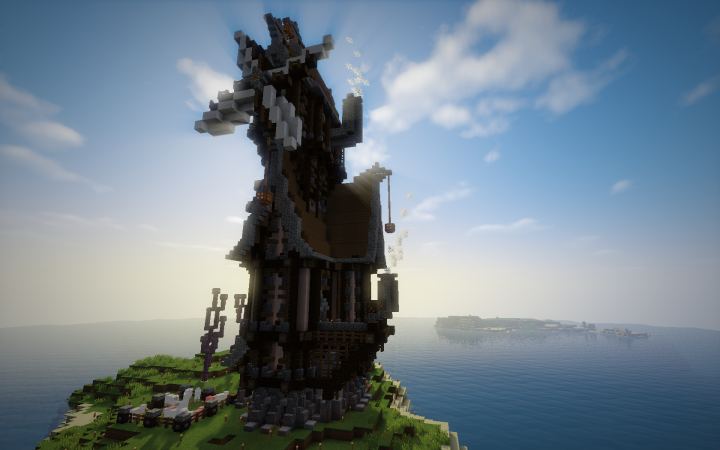 Maison Stempunk Avec Moulin Minecraft Project