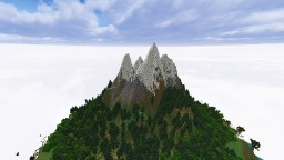 A Castle Island (without buildings) Minecraft Project