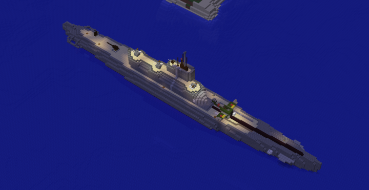 Imperial Japanese Navy Submarine I-400 Minecraft Project