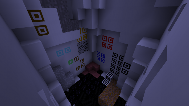All ores and stone types at night