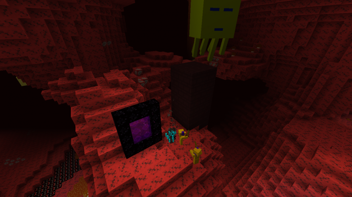 The nether in 8x8 notice the high-contrast mobs