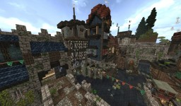 Small quare of the town Aibhne Minecraft