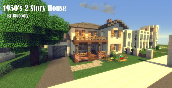 1950 39 S 2 Story House Greenfield Project Minecraft Project