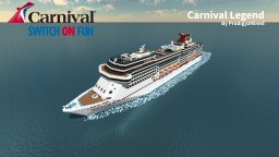 Carnival Legend 1:1 Scale Cruise Ship Minecraft