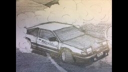 My first sketch blog - Initial D AE86 (POPREEL? WHY?)