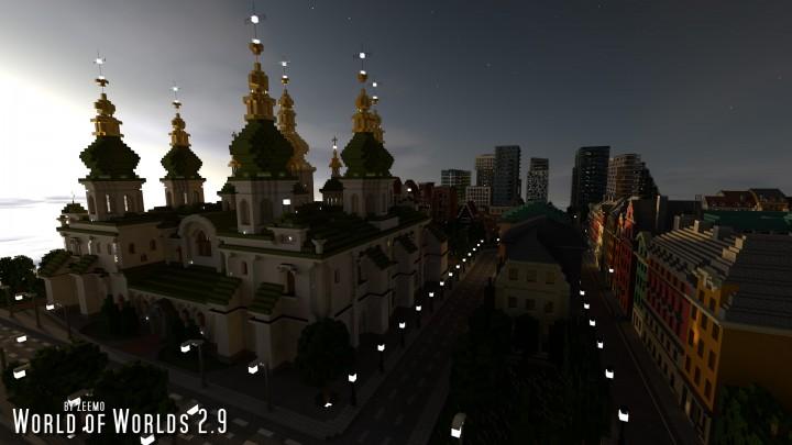 Saint Sophias Cathedral at dusk