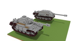 Panzer V Panther & jagd Panther (4:1) Minecraft Project