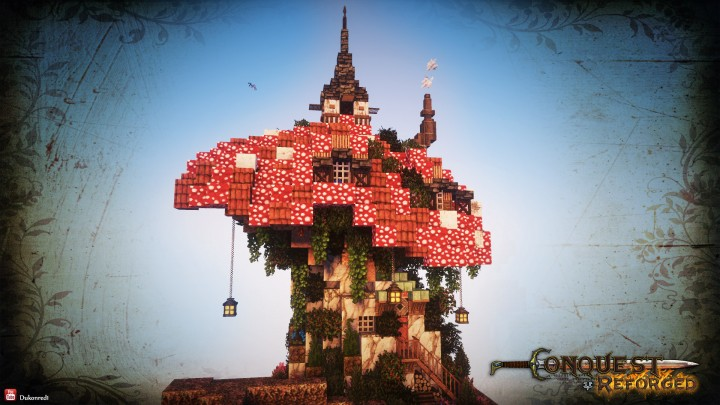 how to build a mushroom house on minecraft