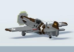 North American P-51 Mustang (4:1) Minecraft