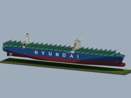 """Container Ship """"HYUNDAI TOGETHER"""" Minecraft Map & Project"""