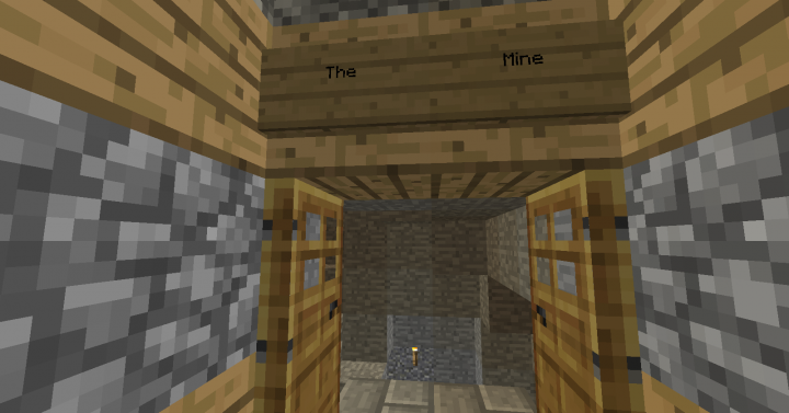 This is the Original Mine. The 2.0 Mine Entrance is Redstone-Powered and is smaller.