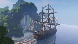 Pirate Hideout with ship #WeAreConquest Minecraft