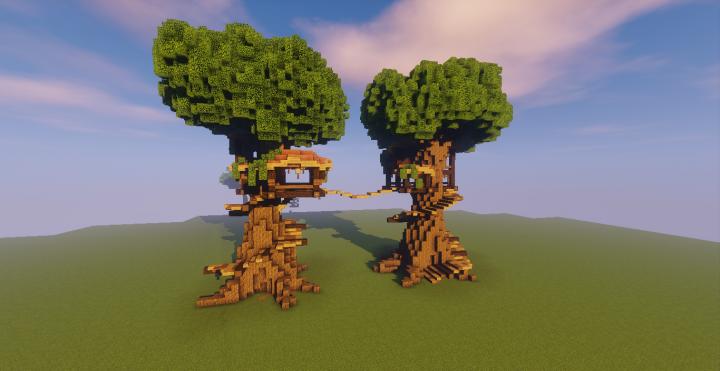 Custom Tree Treehouse Minecraft Project