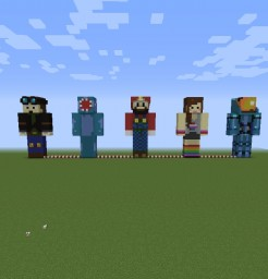 Youtubers / Entites Skins Map Minecraft Map & Project