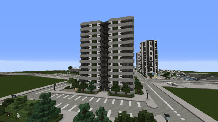 Modern Apartment Building 4 Full Interior Minecraft Project