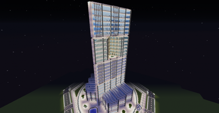 Quartz Tower 9 Minecraft Project