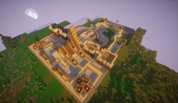 Stonia town spawn Minecraft Project