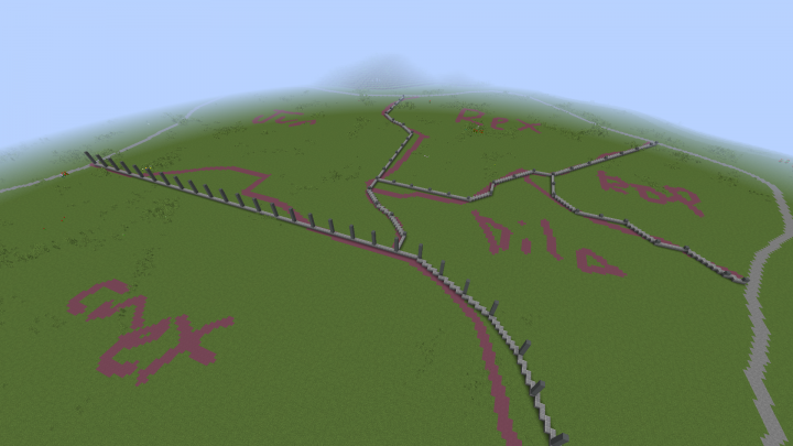 Day One Terraformed entire island. Began outline and construction of animal paddock areas.