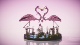 Valentine's Day Flamingo's Minecraft Project