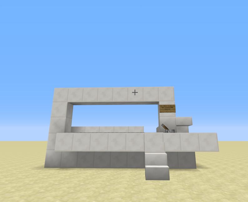 how to build a laser door in minecraft