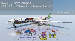 "Boeing 777-300ER EVA Air ""Shining Star""  [+Download] Minecraft Project"