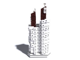 Nagakin Capsule Tower - Brutalism Minecraft Project