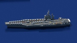 USS Dwight D. Eisenhower CVN-69 || 1:1 Scale Minecraft Map & Project