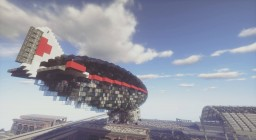 Modern Blimp / Zeppelin Minecraft Project