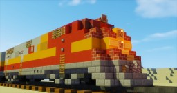 ATSF EMC E3A Diesel-Electric Locomotive Minecraft Project