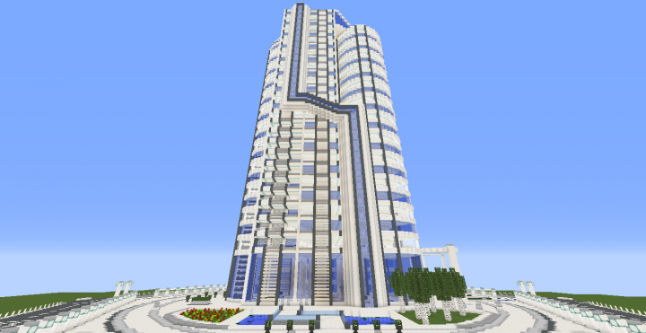Quartz Tower 10 Minecraft Project
