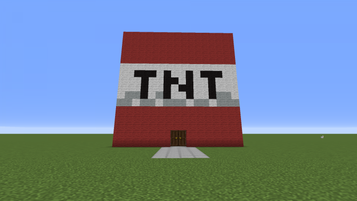 how to make house tnt in minecraft
